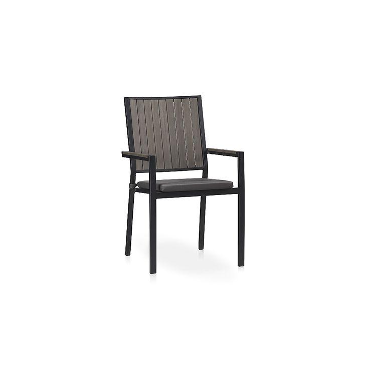 alfresco grey dining chair with sunbrella cushion sunbrella cushionsred