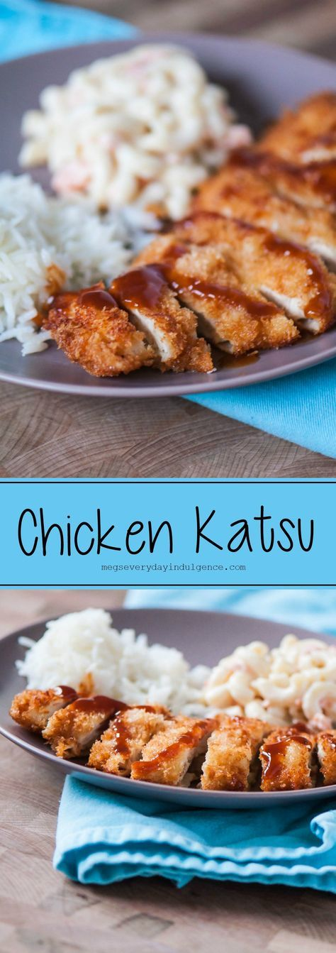 Chicken Katsu is a classic Hawaiian lunch plate item. Simple to make 30 minute meal.