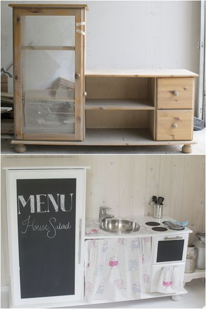 DIY kitchen to the playhouse