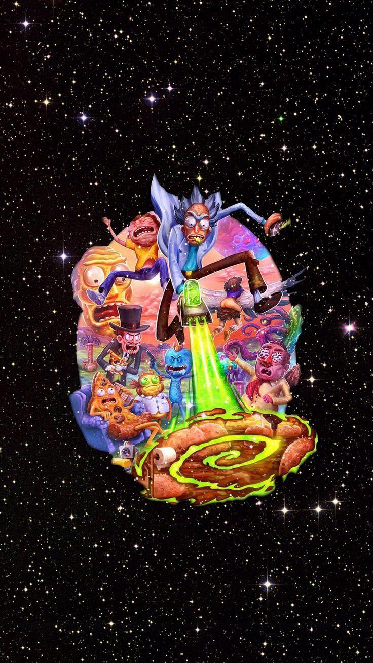 Wallpaper Rick And Morty Cartoon Network Iphone Sevimli Duvar Kagitlari Disney Cizimleri Sanat Pop