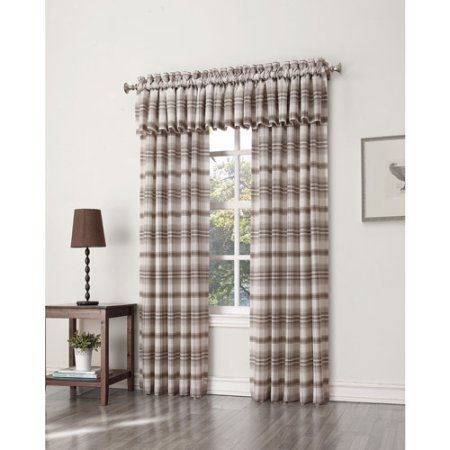 S. Lichtenberg Dawson Plaid Curtain Panel, Brown
