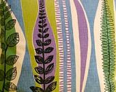 Rare vintage atomic 50s french fabric cushion mid century modern design 1950s