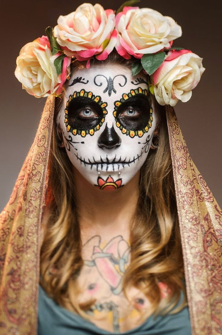 Dia de la muerte // Maquillage // - Valys blog Check more at: http://theholidayideas.com/cool-halloween-face-paint-ideas/