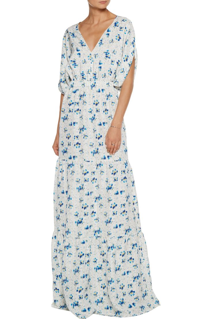 Printed silk-voile maxi dress | Vilshenko | US | THE OUTNET