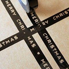 Merry Christmas black tape, Rockett St George