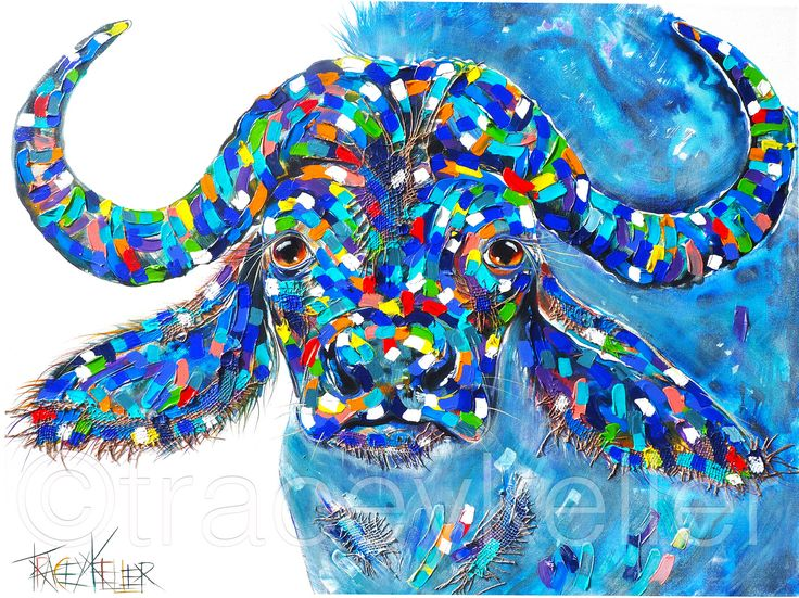 Spirit – Water Buffalo. Big Five Hand Finished Limited Edition tracey keller