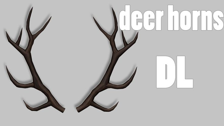 MMD Deer horns DL by LokriLo.deviantart.com on @DeviantArt
