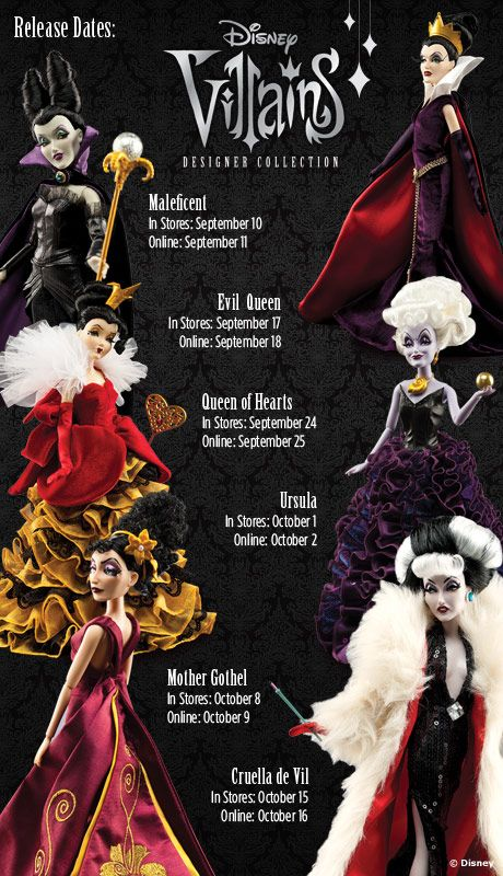 Disney Villains Designer Collection --    WANT SO SO SO BAD!!