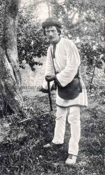 BU-F-01073-5-00585-1 Ţăran din Bucovina la munca câmpului, -1905 (niv.Document)