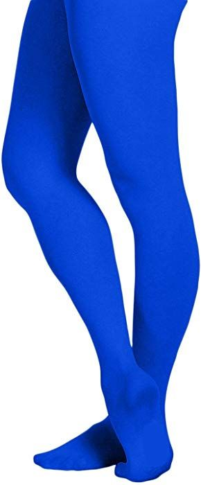72f555be4 EMEM Apparel Women s Ladies Solid Colored Opaque Dance Ballet Costume  Microfiber Footed Tights Stockings Fashion Royal Blue E at Amazon Women s  Clothing ...