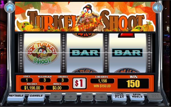 Play free Thanksgiving slots like the Turkey Shoot slot instantly at http://www.CasinoGames.com. The Casino Games site offers free casino games, casino game reviews and free casino bonuses for 100's of online casino games. Find the newest free slots at Casinogames.com.