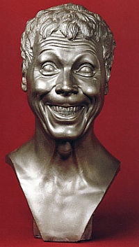 """One of over 60 """"Character Heads"""" by Franz Xaver Messerschmidt;  sculpted between 1771 and 1783"""