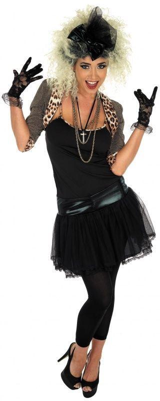Ladies 1980s 80s Madonna Celebrity Fancy Dress Costume Outfit UK 8-30 Plus Size