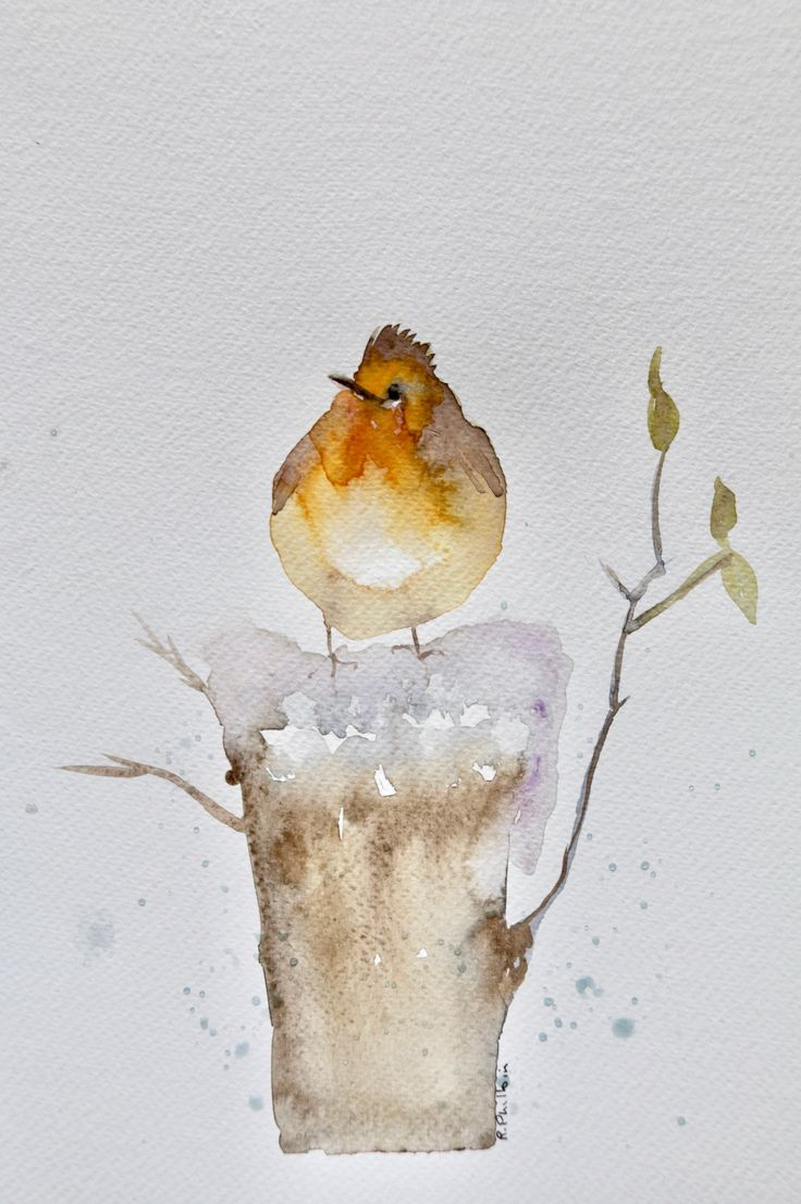 Robin in the snow: Robin in the snow. The post Robin in the snow appeared first on ArtClickIreland.com. #IrishArt