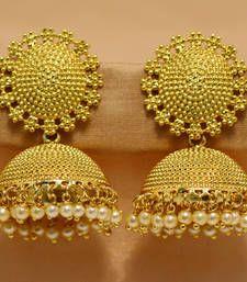 Buy Gold gold plated jhumkas jhumka online