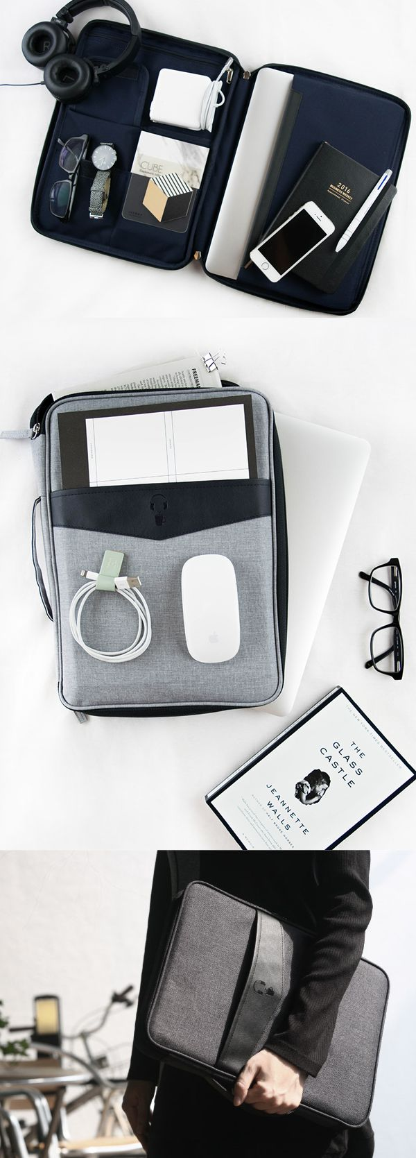 Why carry your laptop and other essentials separately when you can carry them all together? The Better Together 13 in. Laptop Pouch v2 has a padded device pocket that fits 13 inch laptop plus many other pockets to hold pens, cables, notebooks, cell phones, make ups and so many more! Carry all the essentials in one and enjoy well-organized and convenient life!
