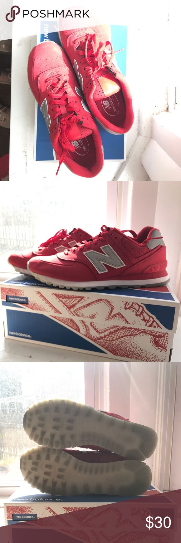Men's New Balance 574 Barely worn - purchased for my husband but he didn't like them! Two pair for sale - this one does not come with the box and was worn 2x.  Other pair never worn w/ box check it out in my closet New Balance Shoes Sneakers