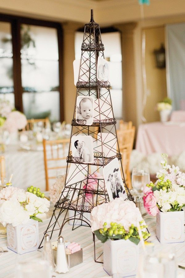 Centrepieces for every table at children's birthday party held in Paris
