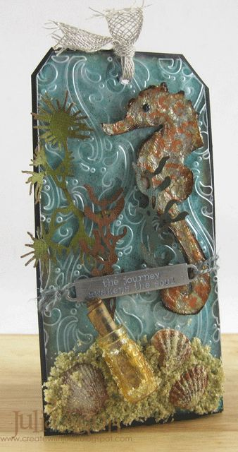 Create With Me: Tim Holtz 12 tags of 2014 - July Tag                                                                                                                                                                                 More