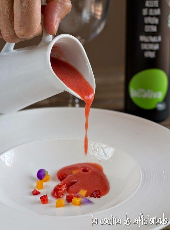 la cocina de aficionado: Gazpacho de frutas con melocotón de Jordi Cruz