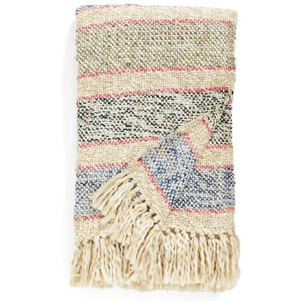 Nordstrom at Home 'Elias' Throw (3,860 INR) ❤ liked on Polyvore featuring home, bed & bath, bedding, blankets, beige oatmeal multi, ivory bedding, cream colored bedding, nordstrom bedding, off white bedding and fringed throws