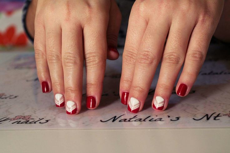 #red # white #Nails