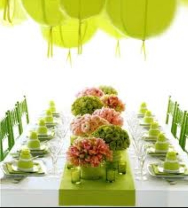 Flower Arrangement Ideas For Dinner Party Part - 36: Spring Colors, Green And Pink, Laterns Centerpieces-flowers-table-setting.  Find This Pin And More On Dinner Party Ideas ...