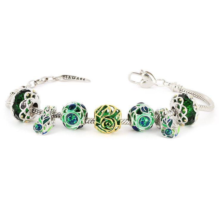 """Рубрика """"Я хочу украшение от Diamare"""". 💎 Очаровательный браслет «Зеленый бархат» от Diamare."""