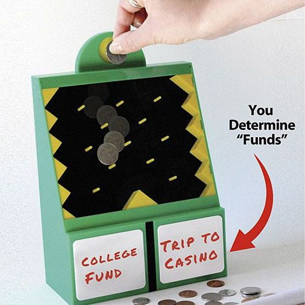 Let Fate Decide Your Savings. A great way to introduce the concept of saving and spending to your little ones.