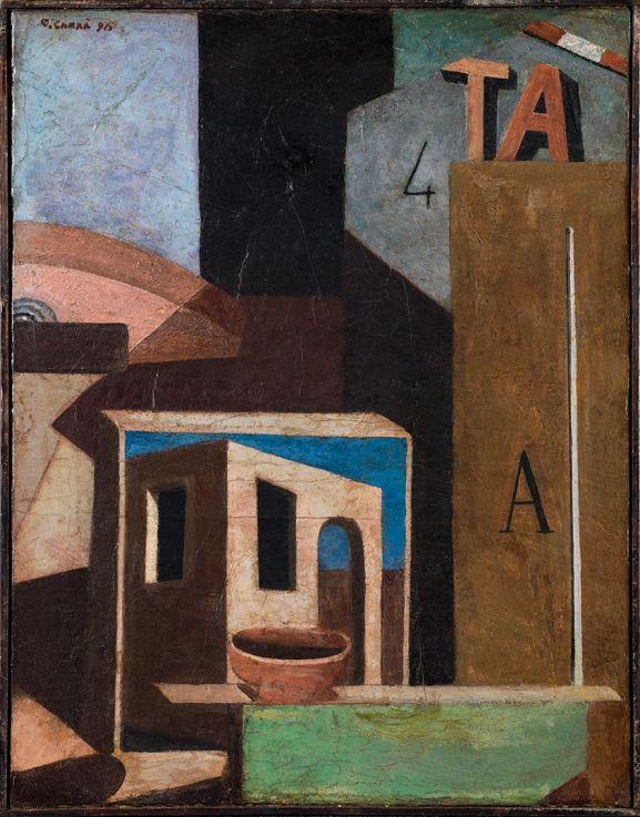 Carlo Carra, Composizione TA, Natura morta metafisica, 1916-1918.