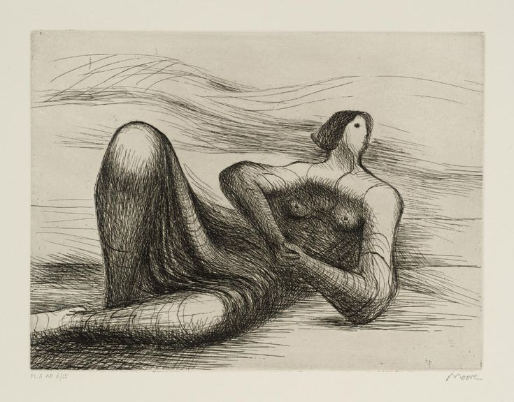 Henry Moore – 'Reclining Figure 6', 1977 © The Henry Moore Foundation