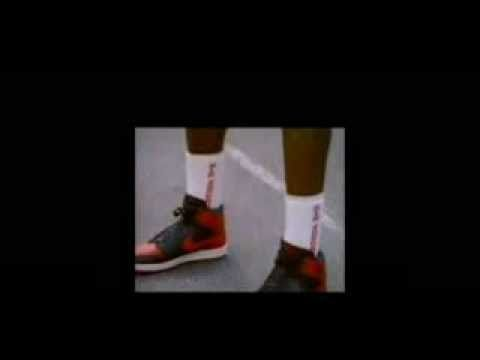 Micheal Jordan first signature shoe commercial of the Air Jordan 1 aired in  1985.