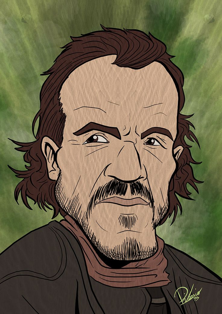 Jerome Flynn as Bronn in #gameofthrones - caricature by Ribosio