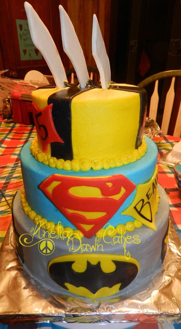 Superman Cake Birthday