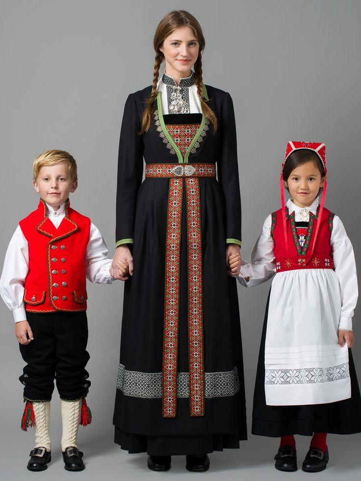 Vinterbunad fra Hardanger for dame, gutt og jente