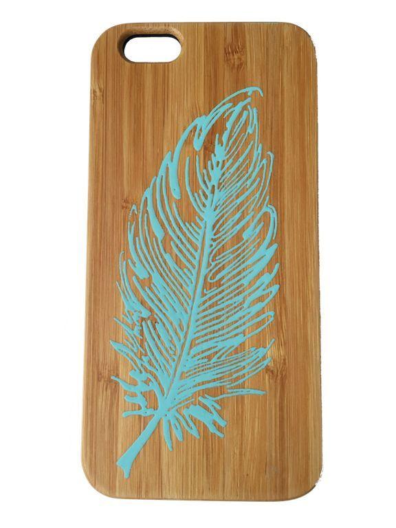 Bewoodz ® IPhone 6 Hülle / Case Aus Bambus Feder 2