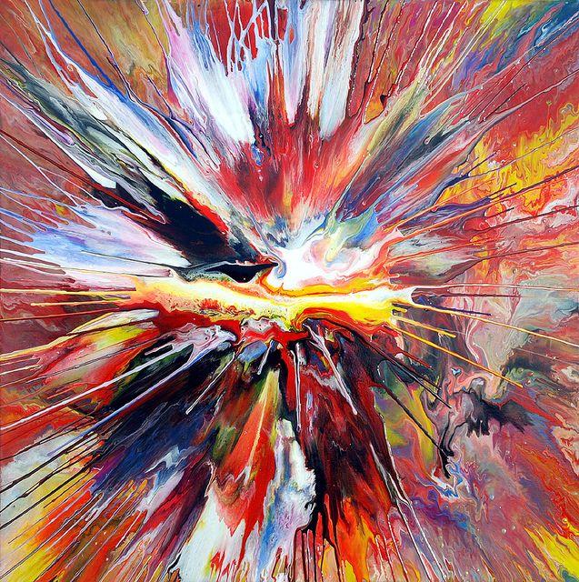Liquid Explosion Painting