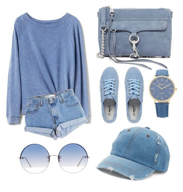 """""""for a sunny day yet chilly weather, your casual (blue) sunday afternoon look."""" by scrindipity ❤ liked on Polyvore featuring Gap, Levi's, Rebecca Minkoff, Linda Farrow and Mudd"""