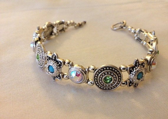Swarvorski Crystal Slider Bracelet by GLANCEJewelry on Etsy, $35.00