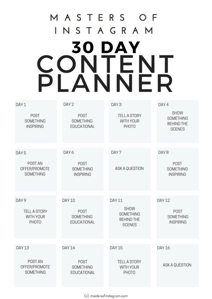 30 Day Instagram Content Planner For Travel Bloggers Brands Businesses Begin Marketing Strategy Social Media Social Media Business Instagram Marketing Tips