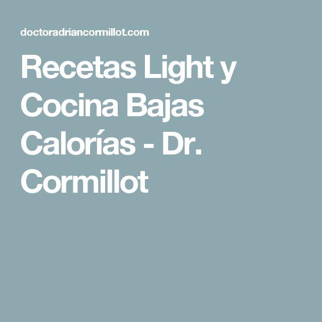 RecetasLight y Cocina Bajas Calorías - Dr. Cormillot
