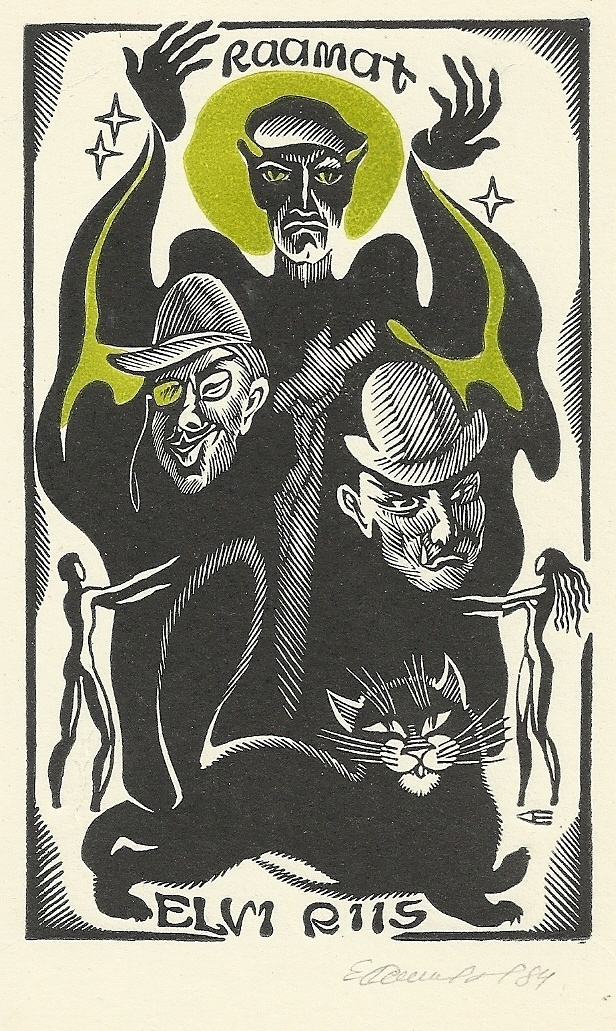 DEVIL AND HIS ENTOURAGE BY M.BULGAKOV EXLIBRIS BY E.SINILOV (RUSSIA 1933-2002 ) | eBay