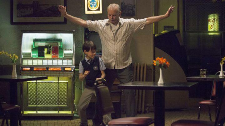 Jaeden Lieberher and Bill Murray in 'St. Vincent'.