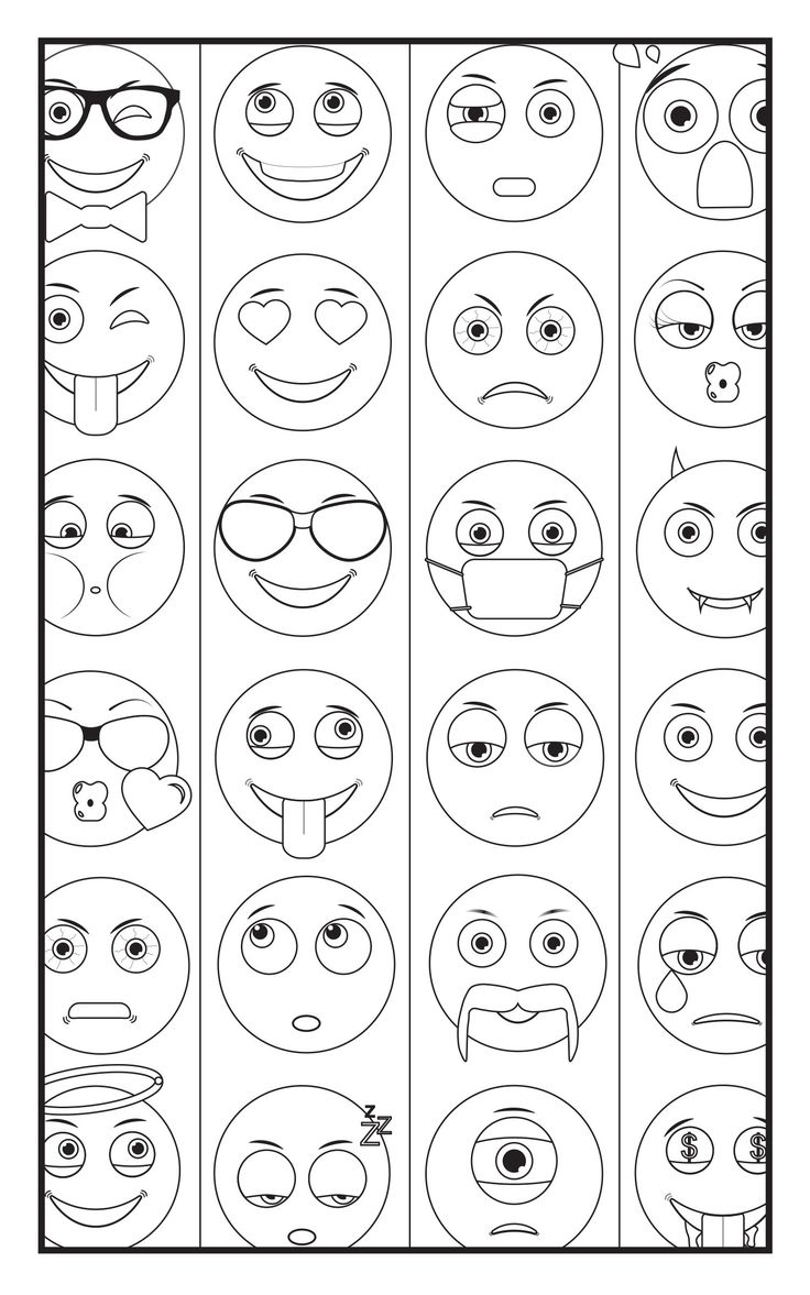 293 best color me emoji images on Pinterest Coloring books