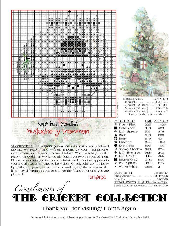 Sopfia&Andie's Mustache-y Smowman  Vicki Hastings  free-design by Cricket Collection