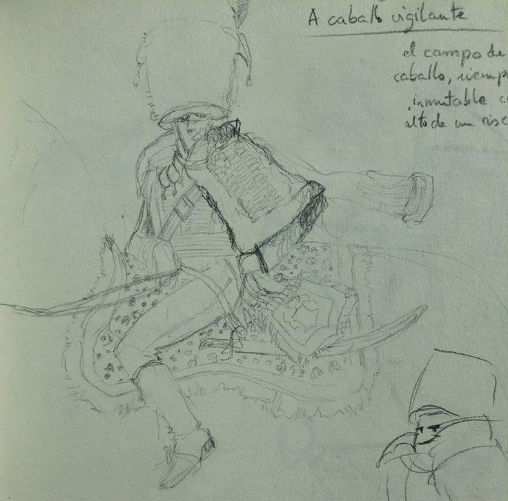Lefebvre riding a horse