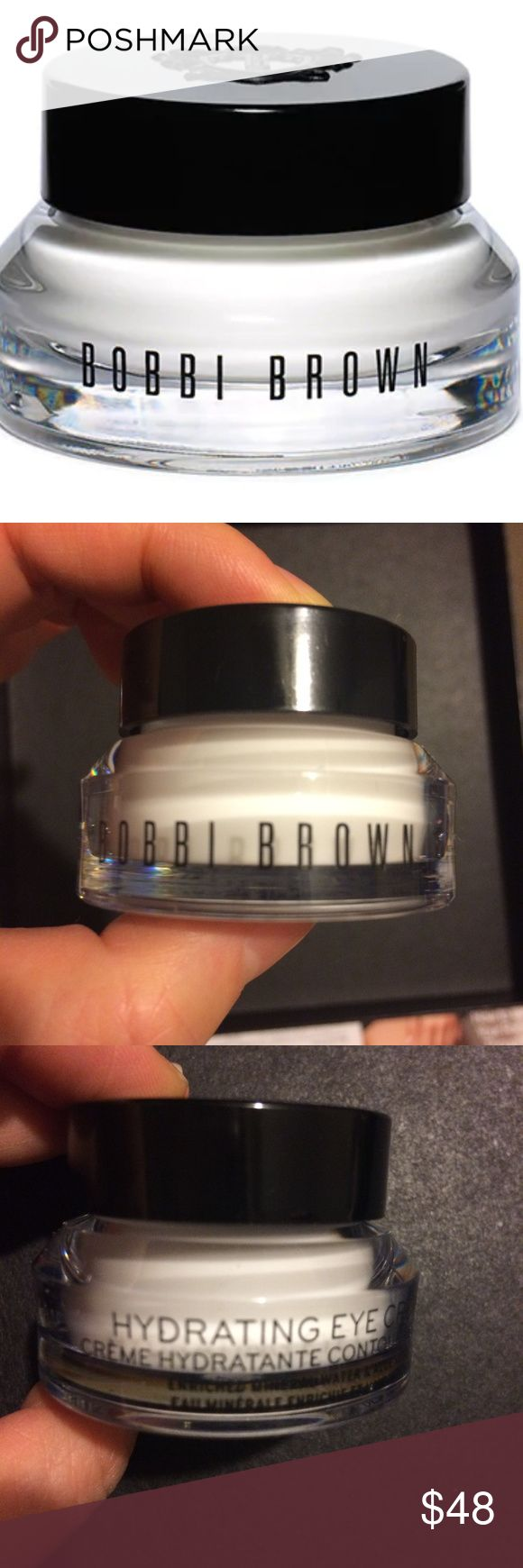 Bobbi Brown Hydrating Eye Cream A quick-absorbing eye cream with moisturizers that melt onto the skin. This cult-favorite cream leaves the eye area soft, smooth, and refreshed for up to 24 hours.  New without tag! Bobbi Brown Makeup