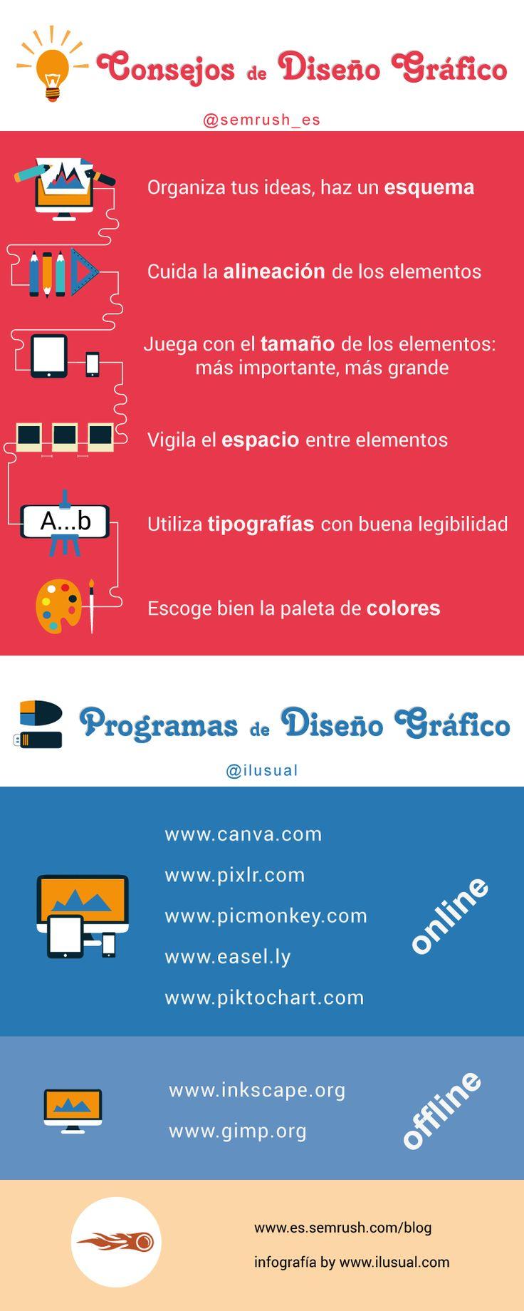 10 consejos de Diseño Gráfico #infografia #infographic #design