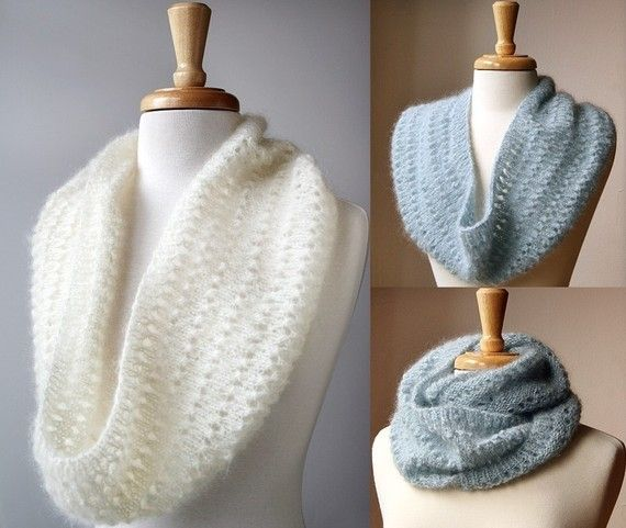 """Genevieve"" Cowl / Infinity Scarf / Snood - Original Knitting Pattern by Elena Rosenberg #fashion #knitting #pattern"