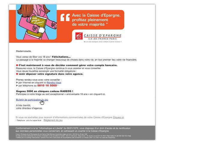 Caisse d'Epargne e-Mailing • Prendre un petit coup de vieux a parfois du bon. Conception + Direction Artistique • D L'agence